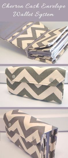 Cute chevron cash envelope wallet system. I love this for our new Dave Ramsey budget! #daveramsey