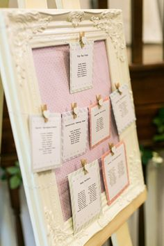 Frame Seating Table Plan Chart Sweet Homespun Colourful Pastel Wedding http://www.natashacadman.com/
