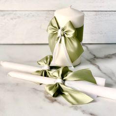 Updates from AlexEmotions on Etsy Wedding Goals, Wedding Sets, Wedding Colors, Church Candles, Pillar Candles, Sage Green Wedding, Wedding Unity Candles, Candle Packaging, Beautiful Candles