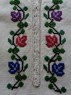 Basic Embroidery Stitches, Embroidery Patterns, Diy Crafts Hacks, Diy And Crafts, Cross Stitch Designs, Cross Stitch Patterns, Diy Garden Projects, Cross Stitch Flowers, Loom Beading