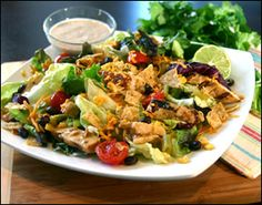 McDonald's southwest salad recipe.  I tried this while traveling yesterday and almost fell to the ground, it was so good!  Can't wait to make it myself.