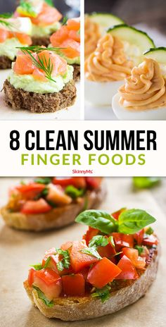 These 8 finger foods are perfect for simple summer snacking. The best part is, they're small enough to grab a whole handful!