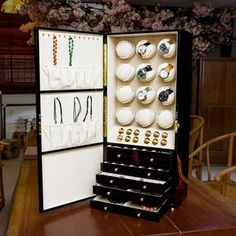 Watch winder cabinet Reel winder for 12 automatic watches -Jewelry storage case Store save collection display chest