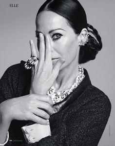Amanda Harlech by Marianna Sanvito for Elle Russia December 2014