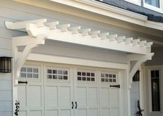 adding the arbor over the garage with hardware on the doors is easy to do in Staging the Outside of a house for sale....I have recommended these kind of additions to many owners, it really helps curb appeal and works to help sell the house.... (and great to do too even if the owner is not moving) by cecelia #sellhomebyowner #sellingahousebyowner #sellhousebyowner