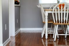 gray colors in living room | My new living room/dining room color!