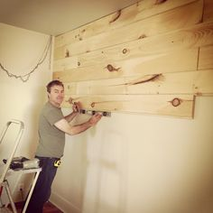 Putting up the planks Front Porch Mercantile