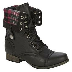 Corey Black Ankle Combat Boots - with zipper up the back (MINE)