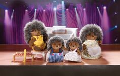 Pickleweeds Hedgehog Family by Calico Critters at Gilt Kids Store, Toy Store, Calico Critters Families, Dolls House Figures, Family Set, Sylvanian Families, All Toys, Imaginative Play, Miniature Dolls