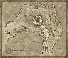 Oblivion / Cyrodill map