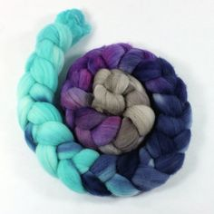 Merino Wool Roving - Hand Painted - Hand Dyed for Spinning or Felting - 4oz - Igloo on Etsy, $18.77 AUD