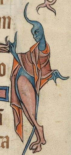 Another of my favourite monsters from The Luttrell Psalter - Folio 48r. Manuscript made in Lincolnshire, England, between 1320-1340 for Sir Geoffrey Luttrell. British Library, Add. MS 42130; Images from the British Library manuscript pages. http://www.bl.uk/manuscripts/FullDisplay.aspx?ref=Add_MS_42130