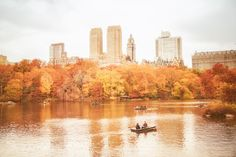 """New York City - Autumn in Central Park. Not as much """"Fall"""" as out in the country."""