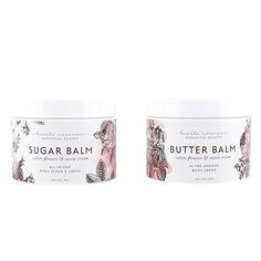 White Flowers & Sweet Cream In-Shower Butter Balm & Sugar Balm Set on AHAlife