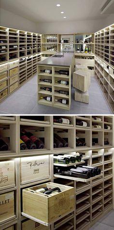 Moderner Weinkeller im Luxus Villa