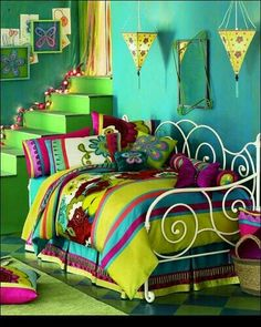 Thats an awesome colourful kids room . Hell , i wouldn't bitch if this was my room! I love colour! My New Room, My Room, Girl Room, Dream Bedroom, Girls Bedroom, Bedroom Decor, Bedroom Ideas, Design Bedroom, Childrens Bedroom