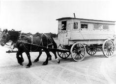 Horse drawn school bus - Jacksonville, 1898