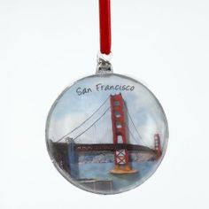 6 Christmas Ornaments by Gordon Companies, Inc. $102.00. Brand Name: Gordon Companies, Inc Mfg#: 30717471. Shipping Weight: 2.00 lbs. Please refer to SKU# ATR26198189 when you inquire.. Picture may wrongfully represent. Please read title and description thoroughly.. This product may be prohibited inbound shipment to your destination.. 6 Christmas Ornaments/golden gate bridge/fully dimensional/hangers included/4''Dia (100mm)/made of glass/you get six ornaments