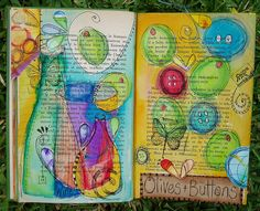 Altered Journal Pages by Phizzychick!, via Flickr