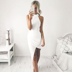 White Prom Dress,Halter Prom Dress,Fashion Prom Dress,Sexy Party Dress,Custom Made Evening Dress Sexy Dresses, Cheap Prom Dresses, Prom Party Dresses, Tight Dresses, Club Dresses, Bella Dresses, 1950s Dresses, Prom Gowns, Lace Dresses