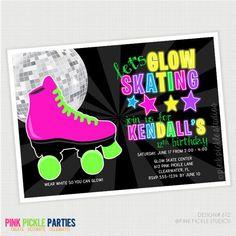 Glow in the Dark Skating Birthday Party by PinkPickleParties, $10.00