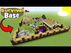 """(12) Minecraft Tutorial: How To Make A Big Survival Base """"Survival Base"""" - YouTube"""