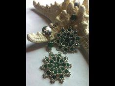 Tutorial orecchini con swarovski, Come fare orecchini Absinthe con perline e cristalli. - YouTube