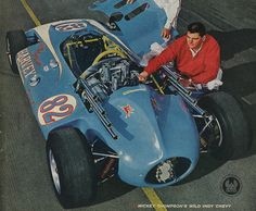 1963 - Mickey Thompson's ( Harvey Aluminum Special - Powered by a Rear-Mounted Stock Block Buick – Failed to Qualify Indy Car Racing, Indy Cars, Drag Racing, Replica Cars, Classic Race Cars, Indianapolis Motor Speedway, Sprint Cars, Classic Motors, Vintage Race Car