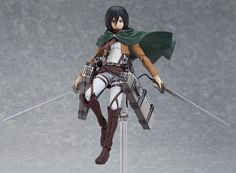 The beauty of figma is the wide range of poses that are possible due to them being highly articulated. Mikasa Ackerman is a superior character for taking advantage of such figure technology. Using the articulated figma stand included and a bit of imagination, favorite scenes can easily be recreated. You can even pose her as if she is about to avenge a comrade's death with her dual blades and Three...