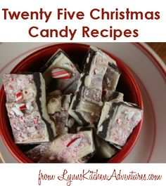 25 Christmas Candy Recipes perfect for holiday candy making and gift giving.