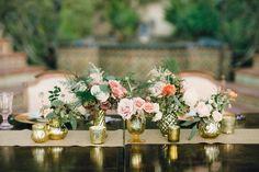 California Wedding Glimmers With Gold - MODwedding