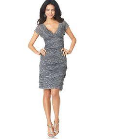 Marina Dress, Cap Sleeve Lace Cocktail Dress - Dresses - Women - Macy's    On list of possibles