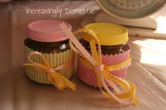 Increasingly Domestic: {Upcycled} Baby Shower Sugar Scrub Favors