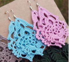 Crochet Jewelry Patterns, Crochet Earrings Pattern, Crochet Bikini Pattern, Crochet Diagram, Crochet Accessories, Crochet Motif, Crochet Designs, Crochet Flowers, Knit Crochet
