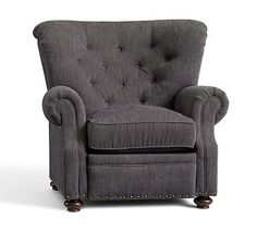 I wish it came in other colors! Lansing Upholstered Recliner #potterybarn