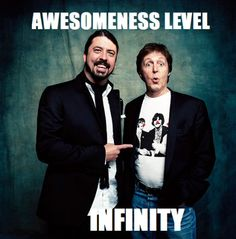 Dave Grohl y Paul McCartney.