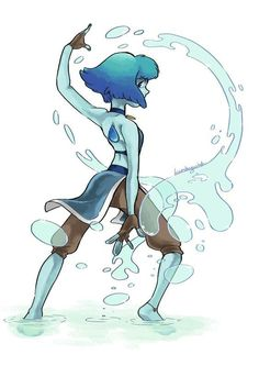 Lapis as a water bender ~ Steven Universe