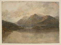 Joseph Mallord William Turner 'Lake Llanberis and Dolbadarn Castle', 1799–1800