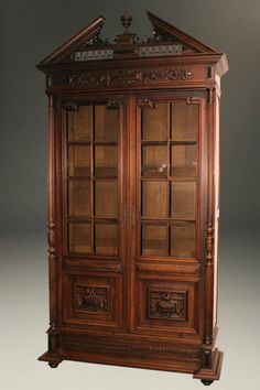 19th century french napoleon iii style bookcase - Antique Looking Bookshelves