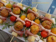 Brochettes fraîcheur / Croquant Fondant Gourmand Fondant, Potato Salad, Potatoes, Ethnic Recipes, Food, Drinks, Concert, Image, Skewers