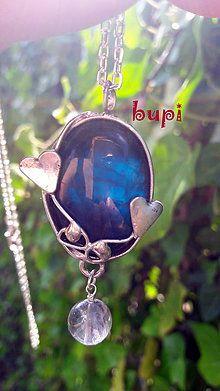 Náhrdelníky - Modrá láska - 7065333_