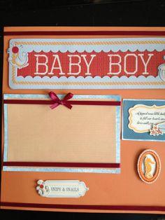 Premade Scrapbook Page  Baby Boy 1 by mysecrethobby on Etsy, $9.00