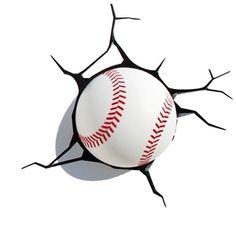 3D Wandleuchte LED Modern Baseball Design