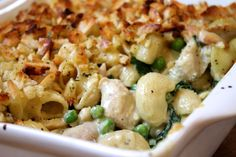 Creamy chicken & basil macaroni cheese