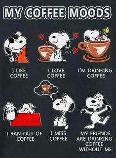 Snoopy vs coffee: discover Snoopy's moods as well as a beautiful Snoopy made of foam on a cup of coffee. The post Snoopy vs Coffee (coffee art & moods) appeared first on Didier J. Coffee Art, Coffee Is Life, I Love Coffee, My Coffee, Coffee Drinks, Coffee Lovers, Coffee Beans, Coffee Creamer, Starbucks Coffee