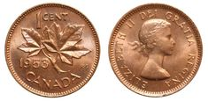 "Top 10 Rare Canadian Pennies include the 1936 dot penny, the 1955 ""No Shoulder Fold"" (NSF) and 1954 NSF. These are very valuable pennies indeed. Valuable Pennies, Rare Pennies, Valuable Coins, Canadian Penny, Canadian Coins, Canadian Bacon, Elizabeth Ii, Thousand Dollar Bill, Old Coins Value"