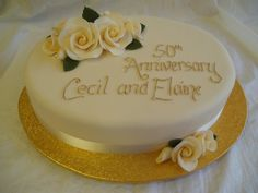50th Anniversary Sheet Cake Designs | anniversary cakes golden wedding anniversary cake a 10 inch oval cake ...