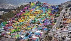 El macromural de pachuca au Mexique, par le collectif Germen Crew. © Wiki…