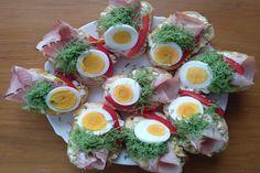 Obložené chlebíčky Cobb Salad, Eggs, Breakfast, Food, Morning Coffee, Essen, Egg, Meals, Yemek