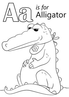 A is for Alligator Alfie The Alligator Activity Pages